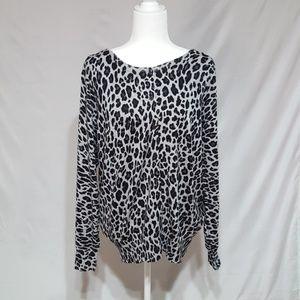 Lane Bryant leopard print cardigan.
